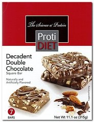 (354422) ProtiDiet Protein Bar Square - Decadent Double Chocolate (7/Box)= ALTERNATIVE TO IDEAL PROTEIN --- NOT PROTOCOL - - - GLUTEN FREE!!