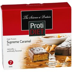 (PD00301) Protidiet Supreme Caramel Bar - - (7/Box) =Alternative to Ideal Protein - Restricted