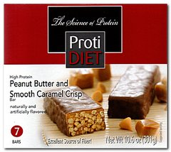 (422318) Protidiet Peanut Butter and Smooth Caramel Crisp = ALTERNATIVE TO IDEAL PROTEIN --- RESTRICTED