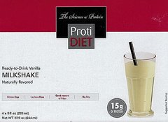 (005287) NEW!!! ProtiDiet Ready to Drink - Vanilla Milkshake (4/Box) = ALTERNATIVE TO IDEAL PROTEIN --- UNRESTRICTED - - - GLUTEN FREE!!
