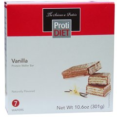 (352756) ProtiDiet - Vanilla Protein Wafer Bar - Ideal Prptein Compatible - Restricted