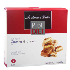 (354040) ProtiDiet - Cookies & Cream Protein Diet Bars - Ideal Protein Compatible - Does not fit