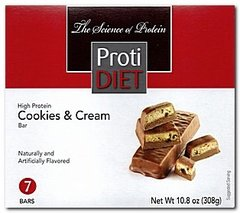 (354040) ProtiDiet Cookies & Cream Bar (7/Box) =Alternative to Ideal Protein - Does not fit