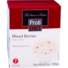 (354071) ProtiDiet Oatmeal - Mixed Berries (7/Box) =Alternative to Ideal Protein - Unrestricted - - - GLUTEN FREE