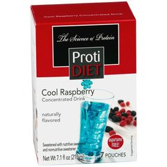 (352648)ProtiDiet Liquid Concentrate - Cool Raspberry (7/Box) = ALTERNATIVE TO IDEAL PROTEIN --- UNRESTRICTED - - -GLUTEN FREE!!
