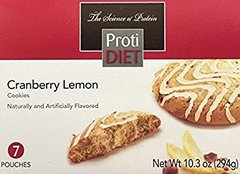 (354403) ProtiDiet Cranberry Lemon Cookies - (7/Box) =Alternative to Ideal Protein - Restricted