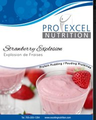 ( 113514) ProExcel Very Strawberry Pudding - UNRESTRICTED- - - (GLUTEN FREE)