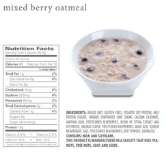 (354071) ProtiDiet Oatmeal -  Mixed Berries (7/Box) =Alternative to  Ideal Protein - Unrestricted