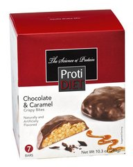 (354385)ProtiDiet Protein Crispy Bites - Chocolate & Caramel (7/Box)= ALTERNATIVE TO IDEAL PROTEIN ---  NOT PROTOCOL