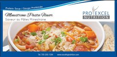 (166) ProExcel Minestrone Pasta Flavor - Soup in a Cup - UNRESTRICTED