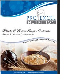 (186) ProExcel Maple & Brown Sugar Fluffy Oatmeal - - - Unrestricted - (7 Servings)
