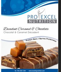 (256) ProExcel Decadent caramel & Chocolate Bar - - - RESTRICTED - GLUTEN FREE - (7 Servings)