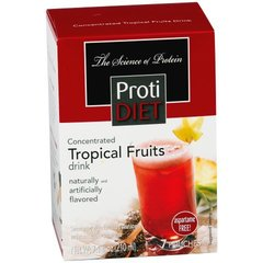 (350127)ProtiDiet Liquid Concentrate - Tropical Fruits (7/Box) = ALTERNATIVE TO IDEAL PROTEIN --- UNRESTRICTED - - -GLUTEN FREE!!