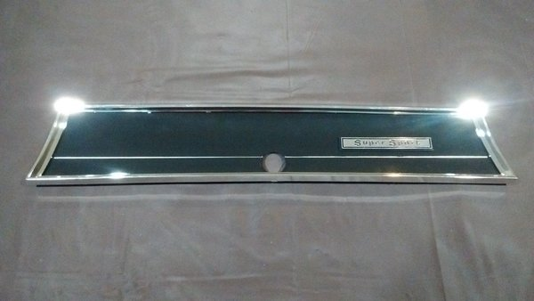 Ss Glove Box Door Trim Plate Cover Bezel 66 Chevelle El