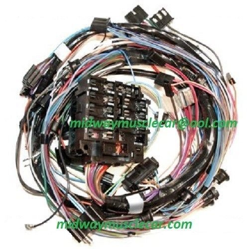 72 chevy pickup wiring diagram 72 chevy dash wiring dash wiring harness w/o a/c 72 chevy corvette ncrs 350 454 ...