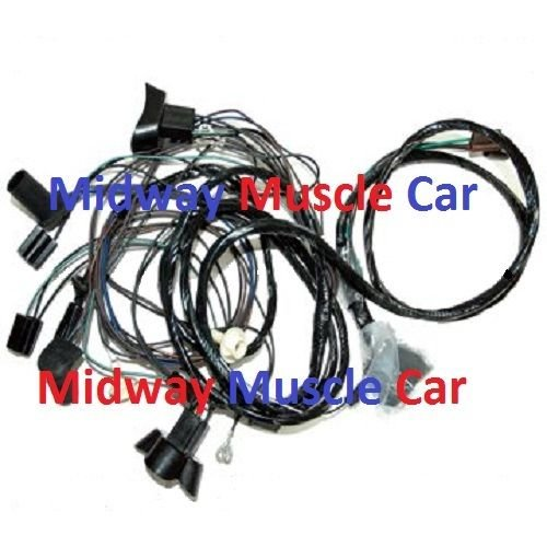 front end headlight wiring harness w/ standard headlights ... pontiac wire harness color code pontiac headlamp harness