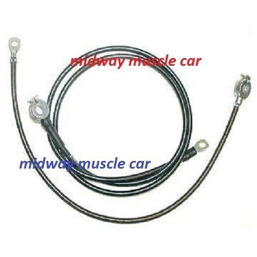 63 64 65 chevy corvette original correct battery cable set top post spring ring