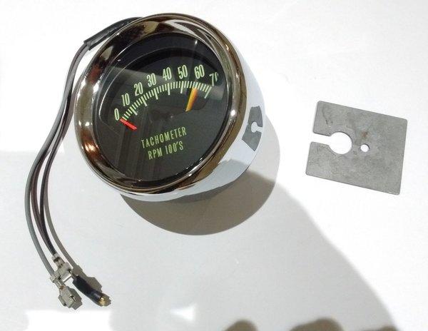 kneeknocker tachometer 66 chevy chevelle malibu el camino 6200 rpm tach midway car