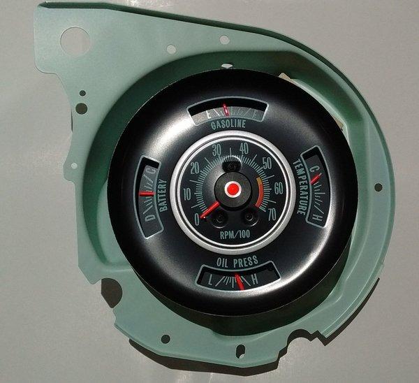 Tachometer  U0026 Dash Gauge 69 Chevy Chevelle Malibu El Camino 5700 Rpm Tach Gauges