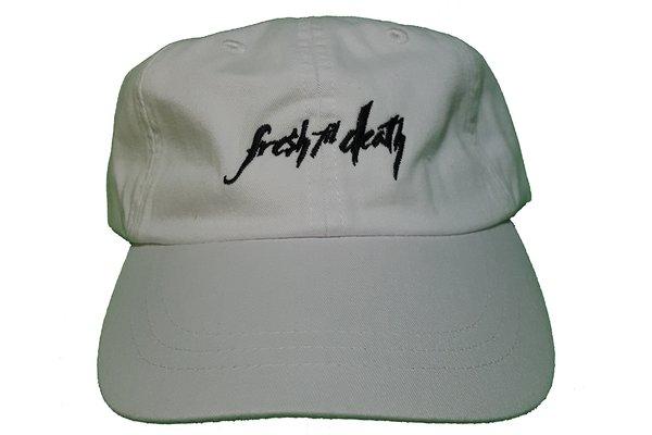 Fresh Til Death Dad Hat - Pigment Washed White
