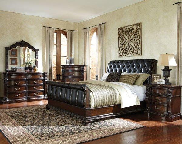 king bedroom set. Churchill Sleigh Bed Queen King Bedroom  Set Mattress More