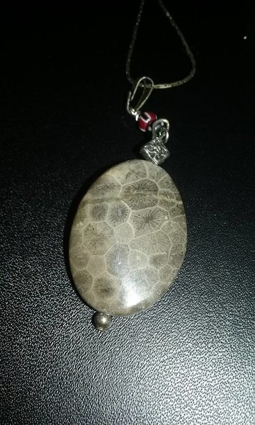 Gargoyle skin stone necklace whozitz and whatzitz unique gifts this amazing stone looks like petrified gargoyle skin or dragonor alligator well whatever it is it is definitely funky and unique aloadofball Gallery