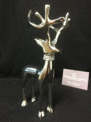 Stunning standing reindeer with crystal neck detail