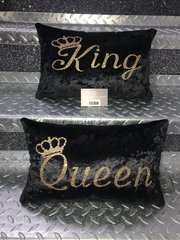 Beautiful Printed Glitter King - Queen cushion options - colour options