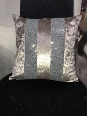 Stunning Ava Fawn crushed velvet and silver Glitter
