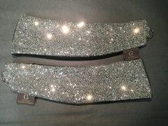 Stunning silver glitter with black crushed velvet curtain tiebacks