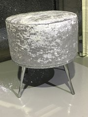 Stunning crushed velvet & glitter  Mid drum dressing table stool - colour options