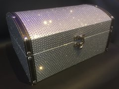 Beautiful silver glitter chest/chests jewellery box - large