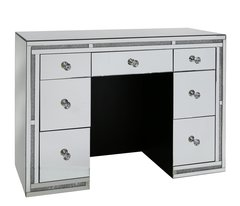 Stunning crystal crackle & mirror dressing table with drawers