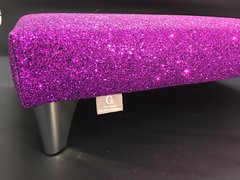 Luxury Purple Sparkle Glitter Footstool Small