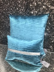 marine wave set of 2 scatter cushions - silver disco glitter