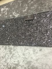 Luxury Gunmetal Grey Crushed velvet and Gunmetal crushed glitter wall art Large