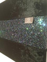 Beautiful black crushed velvet with petrol glitter bed runner