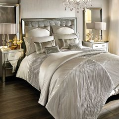 Beautiful Kylie at Home Omara Champagne Bedding - size options