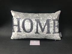 showroom stock HOME silver senso crushed velvet  - gunmetal grey glitter cushion