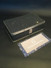 Beautiful black glitter cases / jewellery box - small
