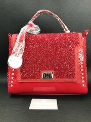 Stunning Alex Max® Red Front crystal clasp handbag