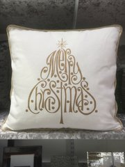 Merry christmas scatter cushion gold