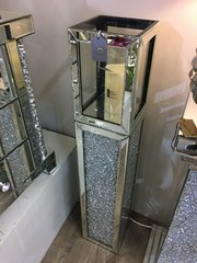 Stunning Magna Large floor standing Mirror and crystal candle holder