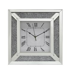 crushed sparkle mirror wall clock 40x40cm