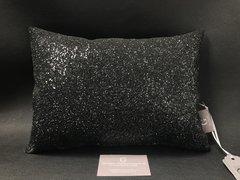 Stunning claira black glitter cushion