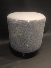 Stunning silver Glitter star drum stools - and colour options