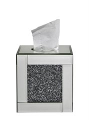 Stunning crushed sparkle tissue box holder