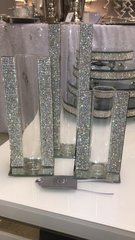 Stunning Sparkle glitz and mirror single flower vase - size option