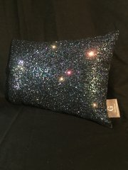 Stunning Claira scatter cushion in Petrol Glitter