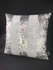 Ava Silver with white/silver disco glitter mix scatter cushion